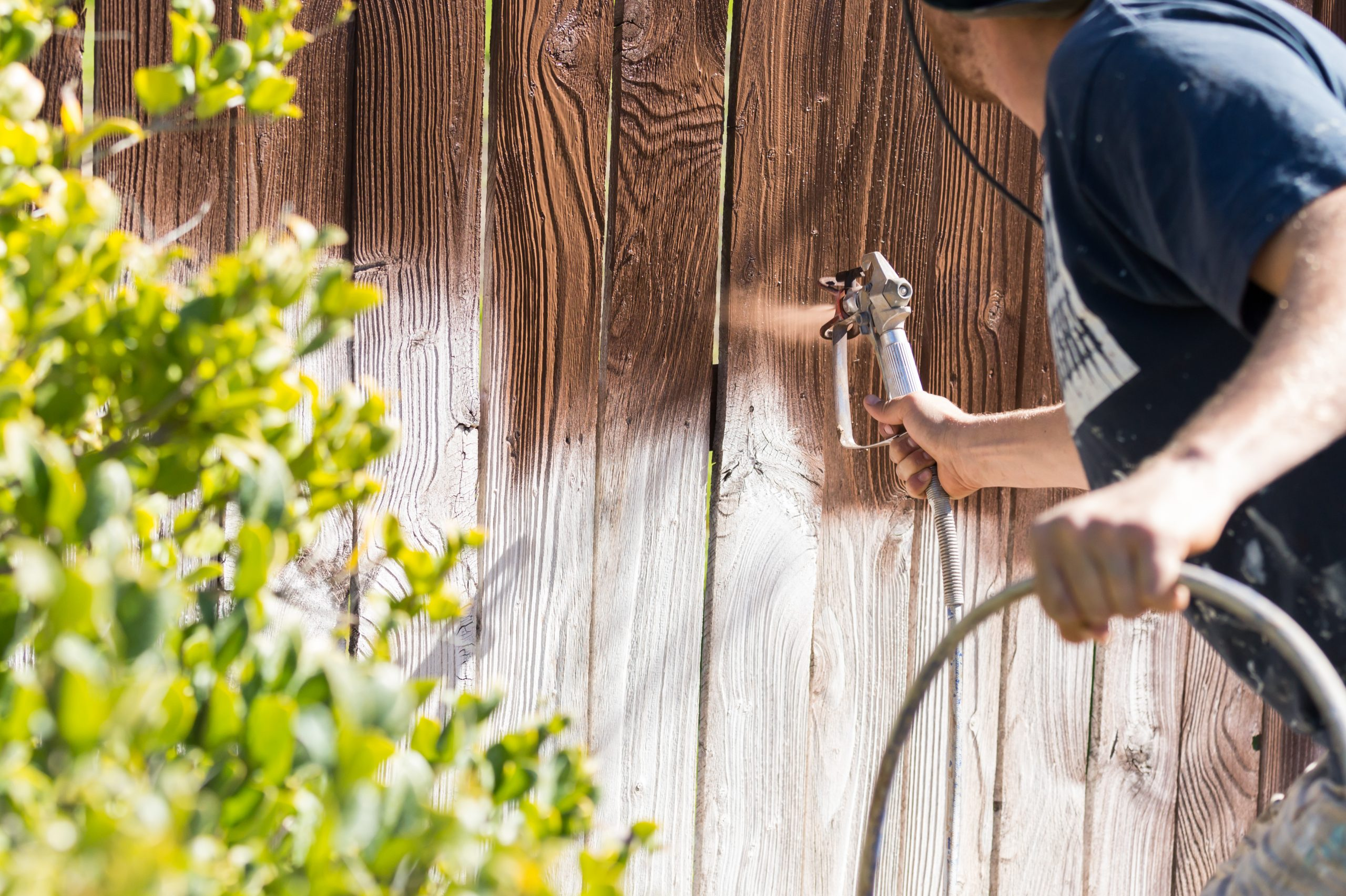 fence stain seal service fencing contractor fences repair service